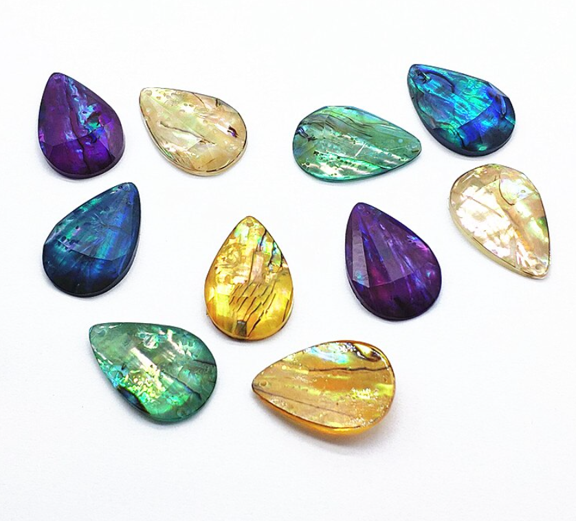 Small Teardrop Abalone Cabochons