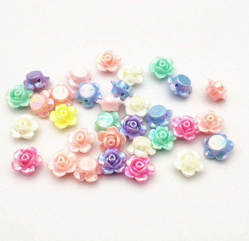 13mm Floral sets: 8 pairs