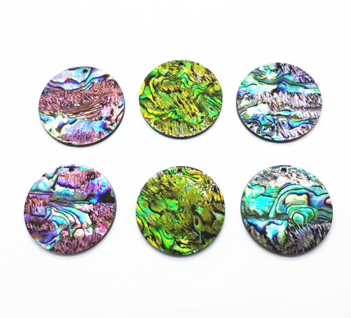 Large 35mm Abalone Circles