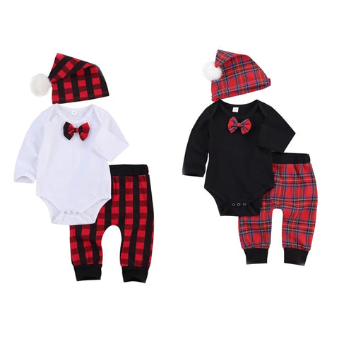 BUFFALO PLAID BOY SET