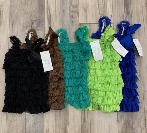 Petti Lace Rompers (multiple colours)