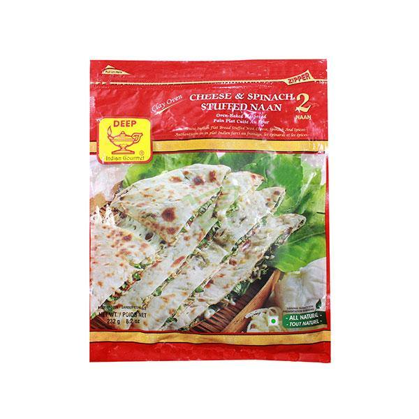 Deep Frozen Cheese & Spinach Naan 2 Pcs 232G