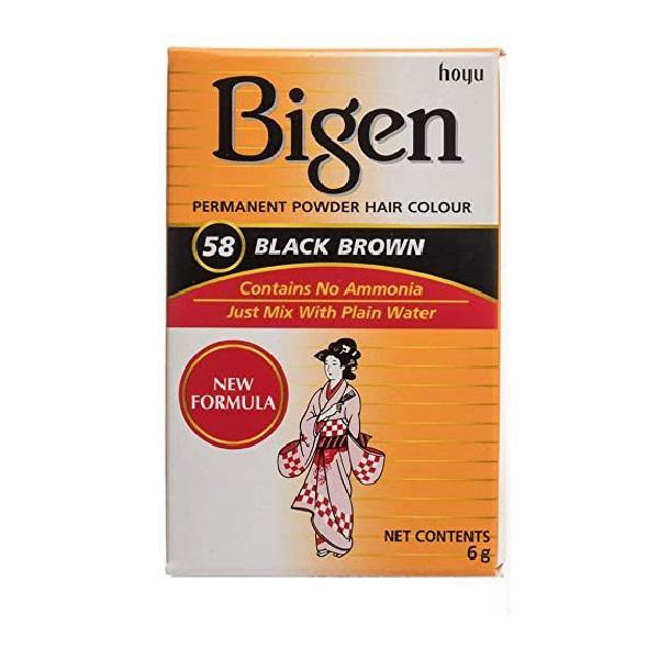 Bigen Hair Color Powder #58 Black Brown
