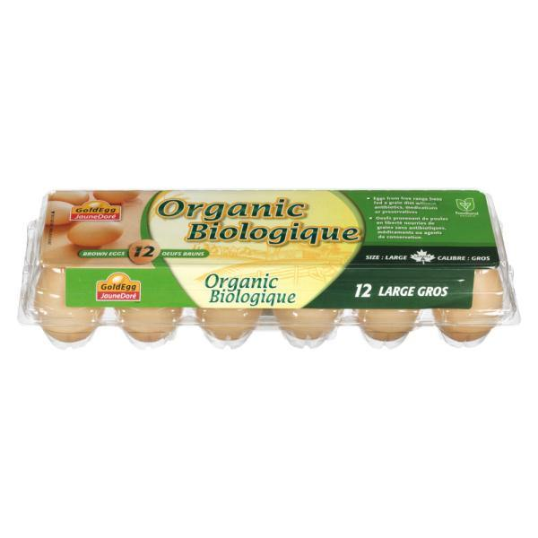 GoldEgg Organic Eggs Large 12pk