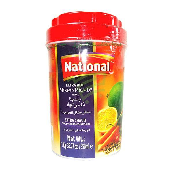 National Extra Hot Mixed Pickle 1Kg