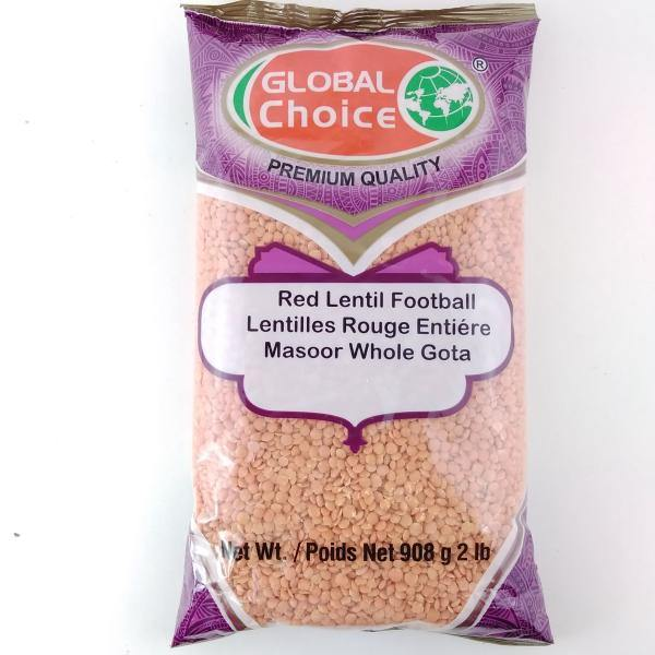 Global Choice Red Lentil Football (Masoor Whole Gota)