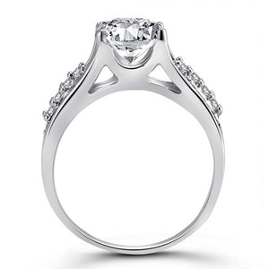 Engagement (CZ) Rhodium Plated Alloy Ring for Women