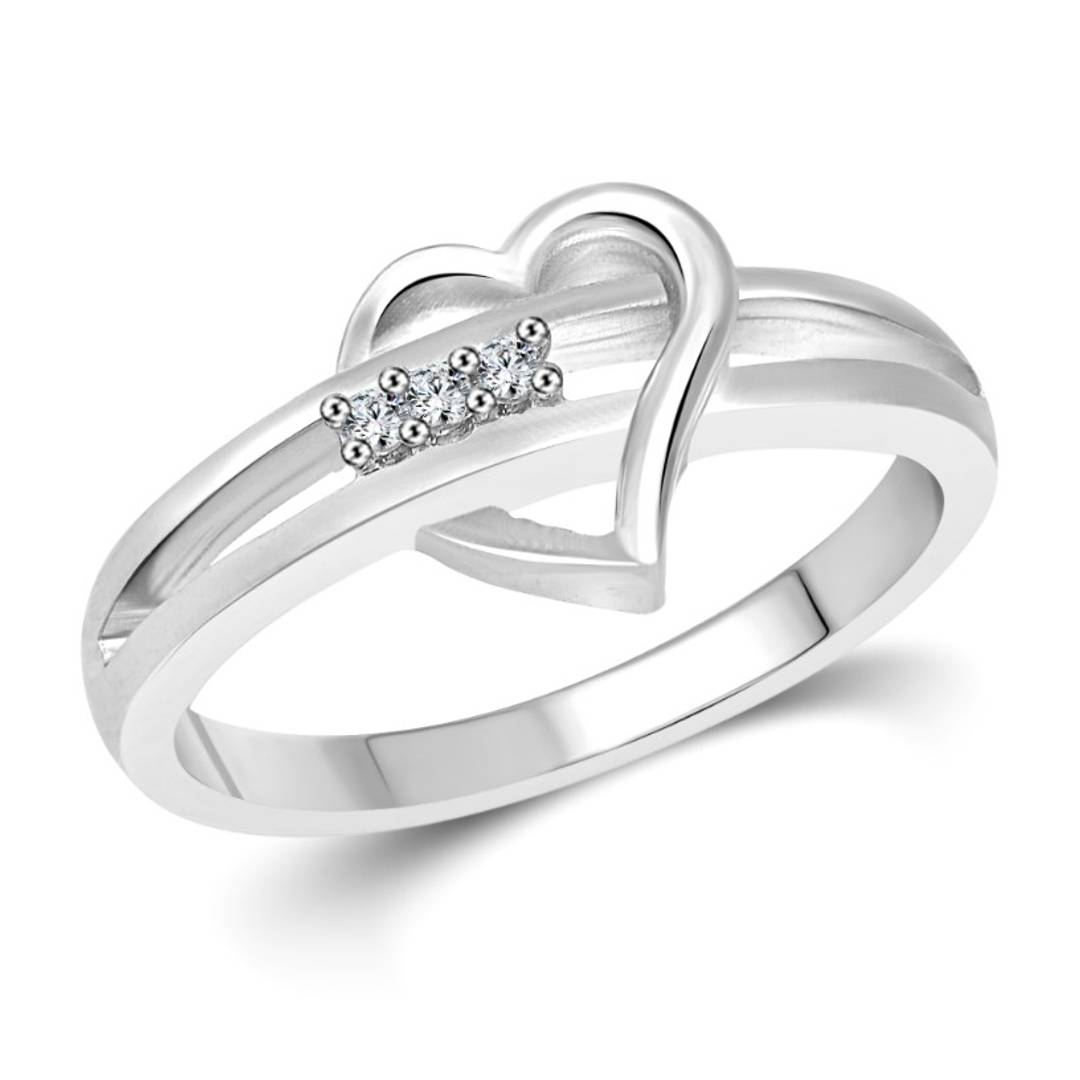 Heart and Soul - Rhodium Plated alloy Ring
