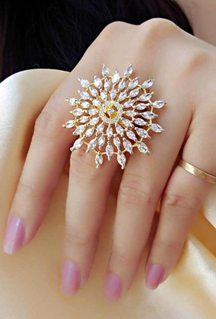 American Diamond Ring For Woman