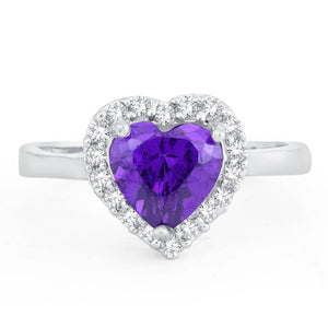 Adorable Queen Heart Valentine Rhodium Plated Ring For Women