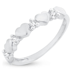 'Heart Full Of Love' Valentine Rhodium Plated Ring For Women