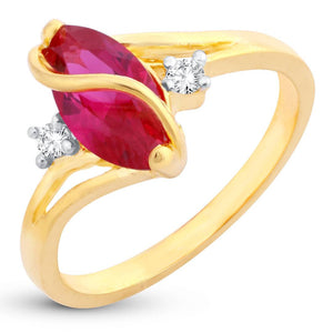 Attractive Olivia Man-Made Opal Invisible Setting Latest Trend Gold Plated Ring For Women