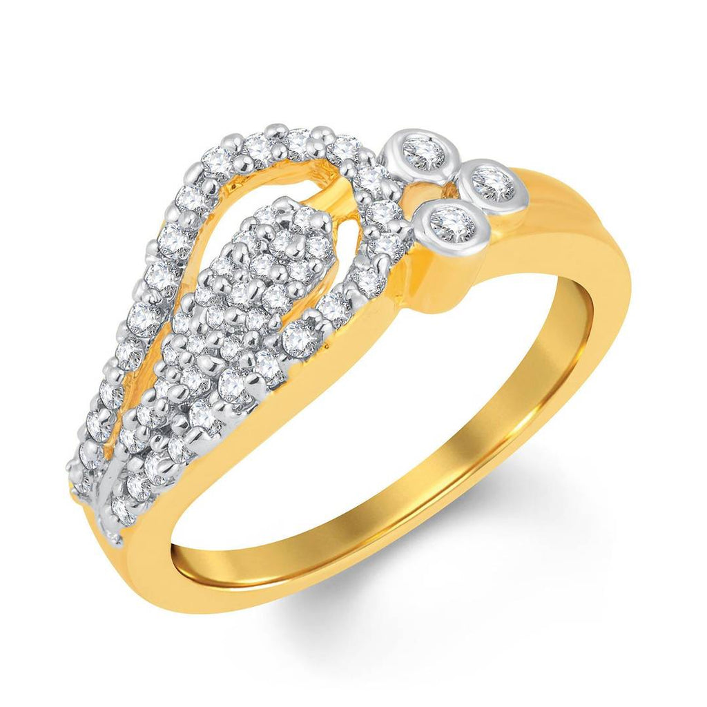 Marvellous Gold & Rhodium Plated Cubic Zirconia Ring
