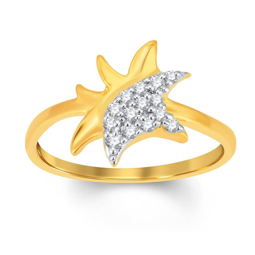 Delightful Gold & Rhodium Plated Cubic Zirconia Ring