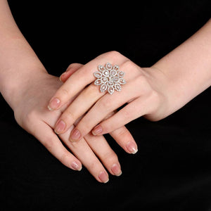 Trendy Flower Designer Alloy Ring