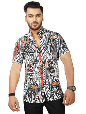Tribal Satin Blend Printed Casual Shirt For Men