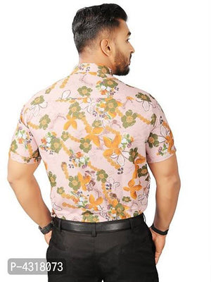 Flower Multicoloured Satin Blend Printed Casual Shirt For Men