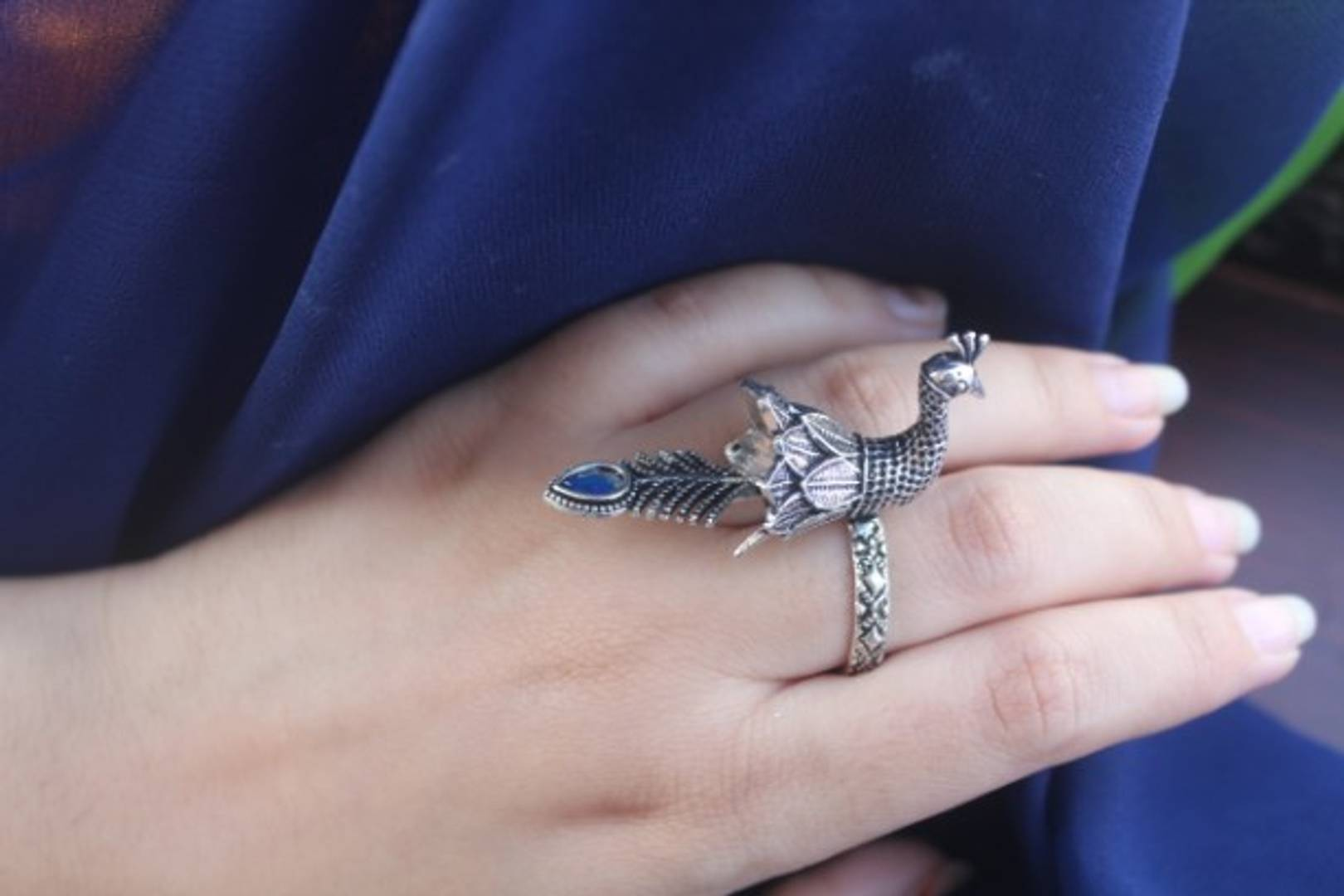 Beautiful Peacock Designer Alloy Ring