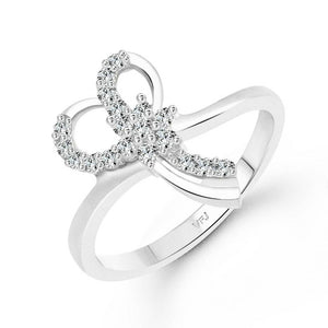 Florry Gift cz Rhodium Plated Alloy Ring for Women