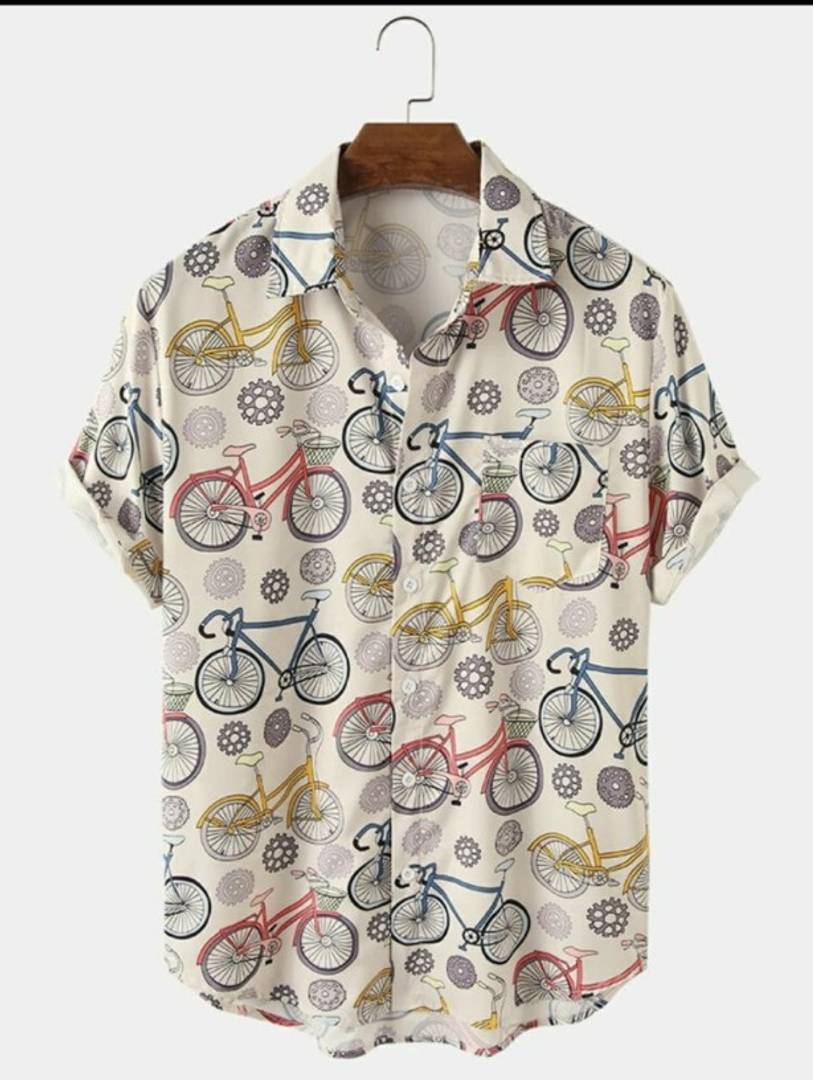 Cycle Satin Blend Printed Half Sleeves Shirt For Men