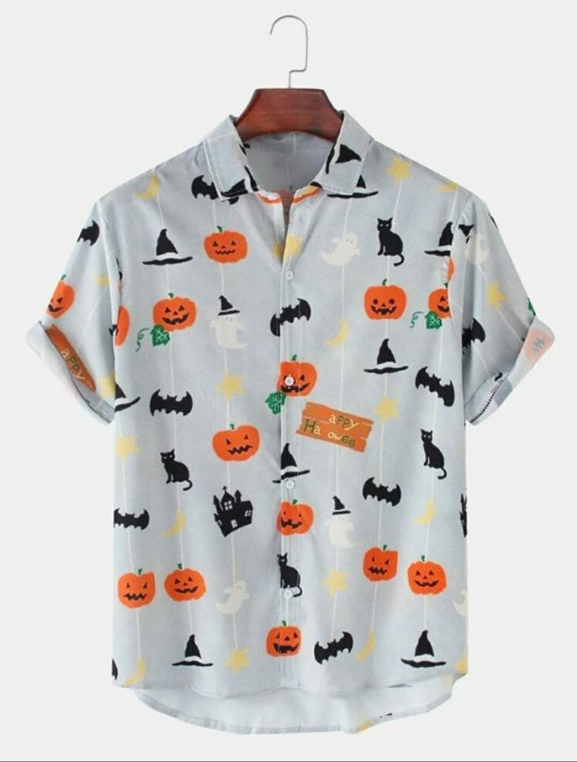 Sexy Satin Blend Printed Half Sleeves Shirt For Men