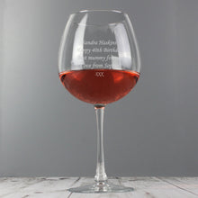 Load image into Gallery viewer, Personalised Bottle of Wine Glass