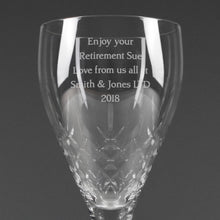 Load image into Gallery viewer, Personalised Cut Crystal Wine Glass