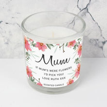 Load image into Gallery viewer, Personalised Floral Sentimental Scented Jar Candle