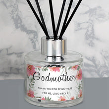 Load image into Gallery viewer, Personalised Floral Sentimental Reed Diffuser