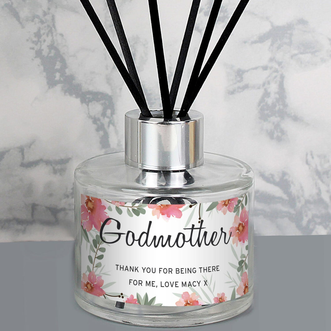 Personalised Floral Sentimental Reed Diffuser