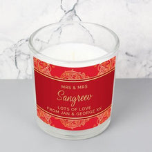 Load image into Gallery viewer, Personalised Paisley Wedding Scented Jar Candle
