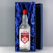 Load image into Gallery viewer, Personalised Birthday Red & Silver Vodka with Gift Box