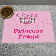 Load image into Gallery viewer, Personalised Pink Princess Pet Placemat