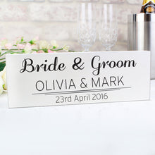 Load image into Gallery viewer, Personalised Classic Wooden Block Sign
