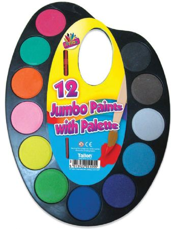 Art Box 12 Jumbo Paints With Palette