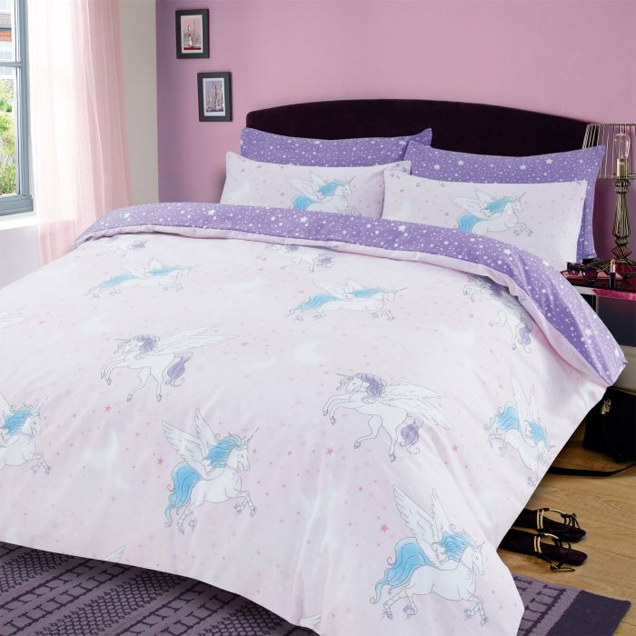 SPARKLE UNICORN DUVET SET - BLUSH