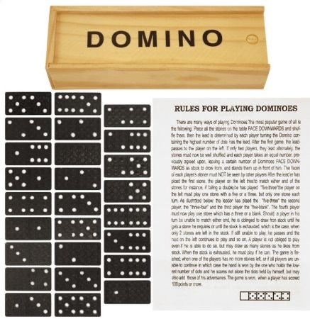 Wooden Dominoes In Storage Box