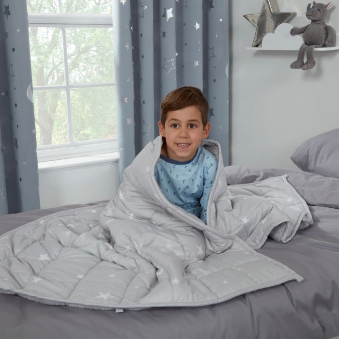 KIDS STAR TEDDY FLEECE WEIGHTED BLANKET 3 KG - CHOICE OF COLOURS