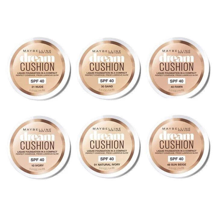Maybelline Dream Cushion Foundation - CHOICE OF SHADES