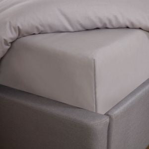 EASY CARE POLYCOTTON FITTED SHEET - CHOICE OF COLOURS