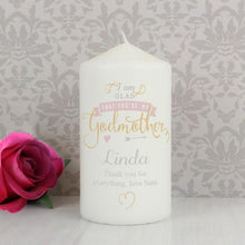 Load image into Gallery viewer, Personalised I Am Glad... Godmother Candle