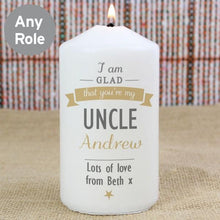 Load image into Gallery viewer, Personalised I Am Glad... Candle