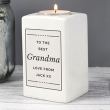 Load image into Gallery viewer, Personalised Ceramic Tea Light Candle Holder