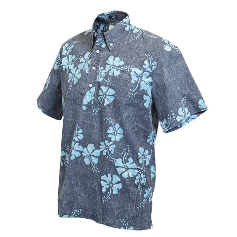 Dress Blue 50th State Flower PO Aloha Shirt