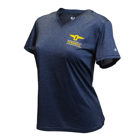 Women's Winged-O Pro Heather V-neck Tech Tee