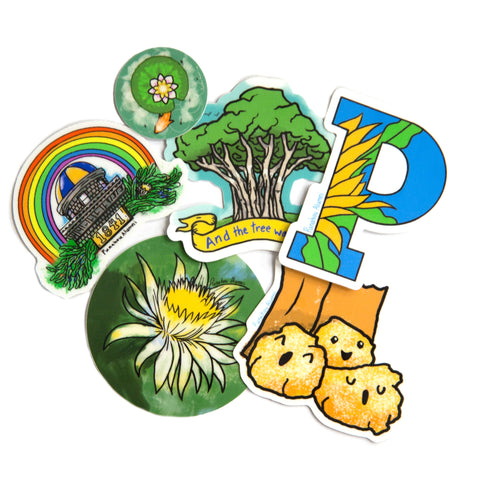 Alumni Punahou Iconic Sticker 6 Pack