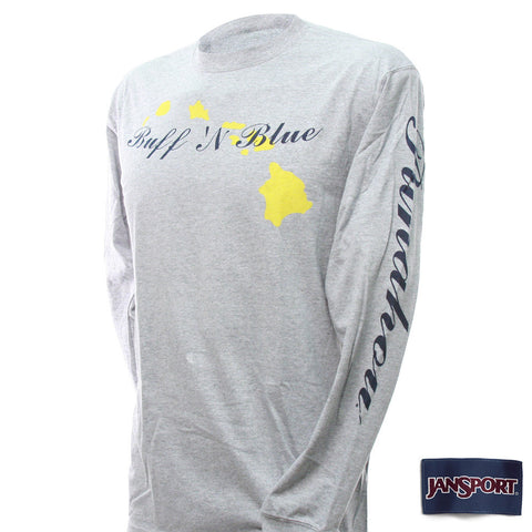Hawaiian Islands Long Sleeve Tee (Grey)