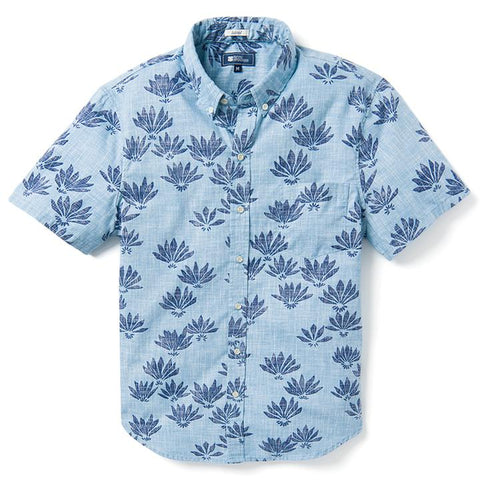 Falling Fan Flowers Tailored BF Aloha Shirt