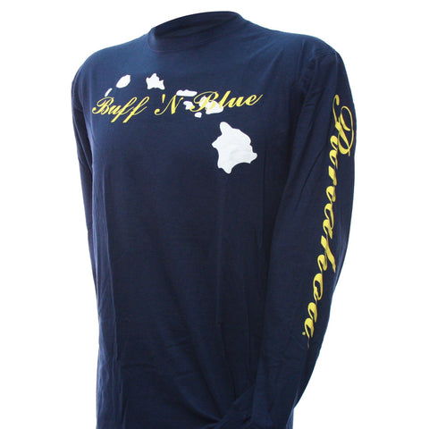 Hawaiian Islands Long Sleeve Tee (Navy)
