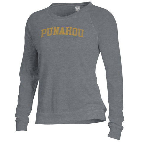 Women's Grey Arch Slouchy Pullover